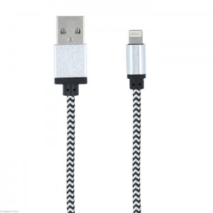 Kabel mocny pleciony USB Lightning do iPhone 1m AMAZON (u)